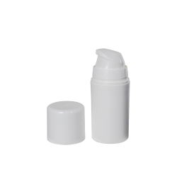 15mL White Mini Airless Dispensers with Cap