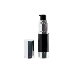 30mL Black/Silver Aluminum Airless Treatment Bottle with Pump & Cap
