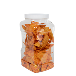 120 oz. Square PET Grip-It Jar with 110/400 Cap