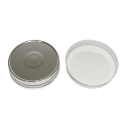 70G-450 Silver Metal Cap with Plastisol Liner & Button