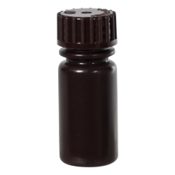 1/8 oz./4mL Nalgene™ Amber Narrow Mouth Bottle with 13mm Cap