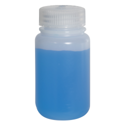 4 oz./125mL Nalgene™ Lab Quality Wide Mouth HDPE Bottle with 38mm Cap
