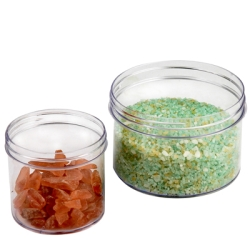Polystyrene Straight Sided Clear Jars