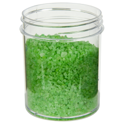4 oz. Polystyrene Straight Sided Clear Jar with 58/400 Neck (Cap Sold Separately)
