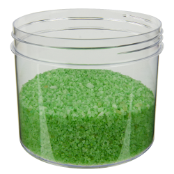 32 oz. Polystyrene Straight Sided Clear Jar with 120/400 Neck (Cap Sold Separately)