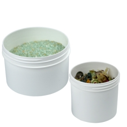 Polypropylene Straight Sided White Jars