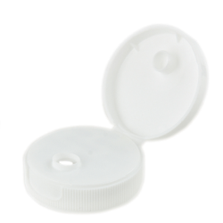 38/400 White Flip-top Cap with 7.62mm Orifice