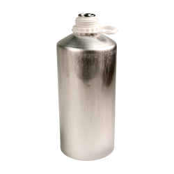 2500mL Industrial Aluminum Bottle Plus 45 Bottle (Cap Sold Separately)