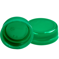 38mm DBJ Green HDPE Tamper Evident Screw Cap
