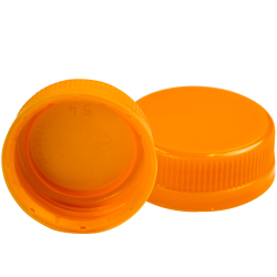 38mm Orange DBJ HDPE Tamper Evident Screw Cap