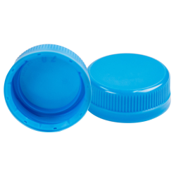 38mm SSJ Waterfall Blue LDPE Tamper Evident Screw On Cap