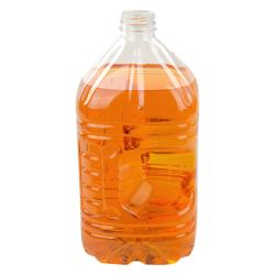 3 Liter Pinch Grip PET Bottle with 38mm DBJ Neck (Cap Sold Separately)
