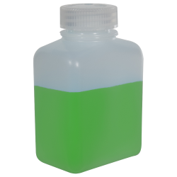 8 oz./250mL Nalgene™ HDPE Rectangular Bottle with 38mm Cap