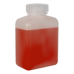 16 oz./500mL Nalgene™ HDPE Rectangular Bottle with 48mm Cap