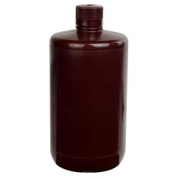 1/2 Gallon/2 Liter Nalgene™ Large Amber Narrow Mouth Bottle with 38/430 Cap
