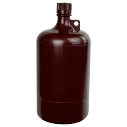 1 Gallon/4 Liter Nalgene™ Large Amber Narrow Mouth Bottle with 38/430 Cap