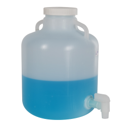 2-1/2 Gallon Nalgene™ Wide Mouth LDPE Carboy Modified by Tamco ® with 3/4