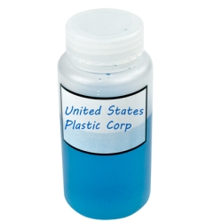 Azlon® Polypropylene Graduated Label Bottles with Caps