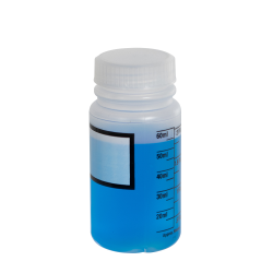 60mL Azlon ® Polypropylene Graduated Label Bottles with 33mm Caps