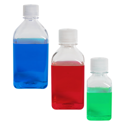 Thermo Scientific™ Nalgene™ Narrow Mouth Polycarbonate Square Bottles with Caps