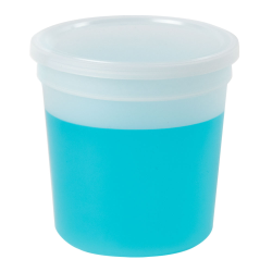16 oz. Natural Specimen Containers with Lids - Case of 100
