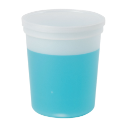 32 oz. Natural Specimen Containers with Lids - Case of 100