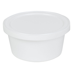 4 oz. White Specimen Containers with Lids - Case of 250