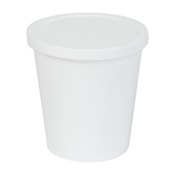 8 oz. White Specimen Containers with Lids - Case of 250
