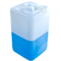 HDPE Square Corner Pour 2-1/2 Gallon Carboy
