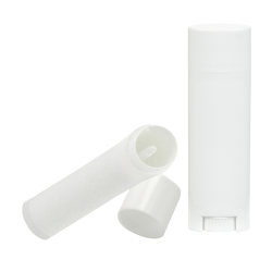 White Lip Balm Tubes with Caps