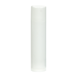 0.15 oz. White Round Lip Balm Tube with Cap