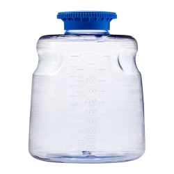 1000mL SECUREgrasp ® Polycarbonate Sterile Bottles with 45mm Blue Caps - Case of 24