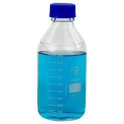 1000mL Round Glass Media/Storage Bottle with Cap