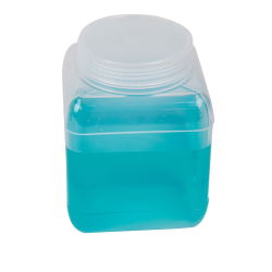 1000mL Wide Mouth Polypropylene Square Storage Bottle with Cap