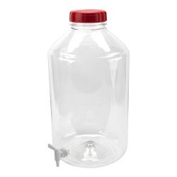 6 Gallon Transparent PET Carboy with Spigot