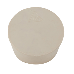 Silicone #10 Solid Stopper