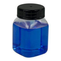 50mL Wide Mouth PVC Bottles with Caps - Pack of 12