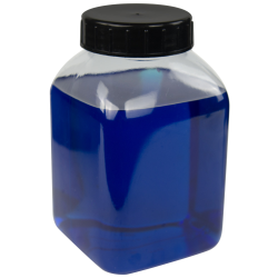 2000mL Wide Mouth PVC Bottles with Caps - Pack of 12