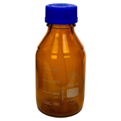 500mL Amber Glass Media/Storage Bottle with Cap