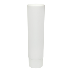 4 oz. White MDPE Lotion Tube with Flat Cap