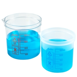 50mL Azlon® Polypropylene Square Ratio Beakers