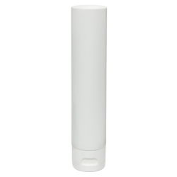 3 oz. White MDPE Lotion Tube with Flip Cap