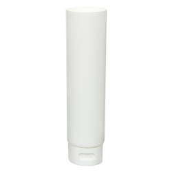 4 oz. White MDPE Open End Lotion Tube with Flip Cap
