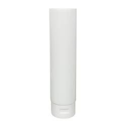 8 oz. White MDPE Lotion Tube with Flip Cap