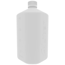 1 Liter Clear HDPE Boston Square Bottle with GL45 Cap