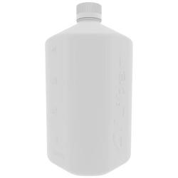 4 Liter White HDPE Boston Square Bottle with GL45 Cap