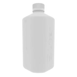 1 Liter White Polypropylene Boston Square Bottle with GL45 Cap