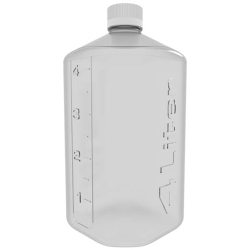 4 Liter Clear PETG Boston Square Bottle with GL45 Cap
