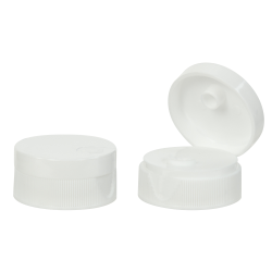28/400 White Ribbed Snap Top Cap with .25