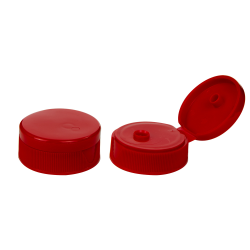 38/400 Red Ribbed Snap Top Cap with .6875